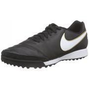 Nike Tiempo Genio II Leather TF, Zapatillas de Fútbol para Hombre, Negro (Black/White-Metallic Goldblack/White-Metallic Gold)