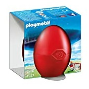 Playmobil Soccer Player with Goal Gift Egg