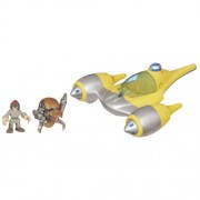 Playskool Heroes Star Wars Jedi Force - Naboo Starfighter con figuras de Anakin Skywalker y Destroyer