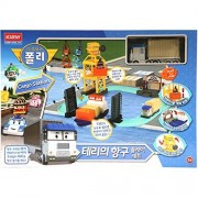 Robocar Poli Terry Port Harbor Play Set Cargo Station for Diecast Figure by ACADEMY