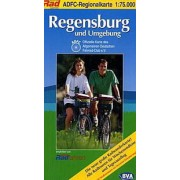 Fietskaart ADFC Regionalkarte Regensburg und Umgebung | BVA