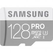 Card Samsung microSDXC PRO 128GB Clasa 10 UHS-I U3 cu adaptor SD