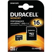 Duracell 16GB microSDHC UHS-I geheugenkaart incl SD adapter (DRMK16PE)