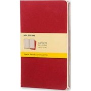 Moleskine Squared Cahier L - Red Cover (3 Set) by Moleskine