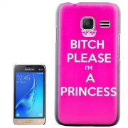Bitch Please I am a Princess Pattern PC Protective Case for Samsung Galaxy J1 Mini / J105