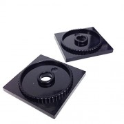 Lego Parts: Turntable 4 x 4 Square Base, Locking (PACK of 2 - Black) by Parts/Elements - Turntables