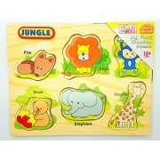 My First Wooden Animal Puzzle Perfect For Children to develop identification skills of Animals- Jungle, Farm, Ocean -Bumper Gift Set Toy game Jigsaw for kids/Children Ideal for Christmas, stocking filler party bag