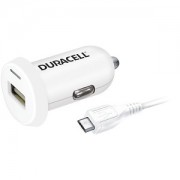 Duracell In Car 2.4A Charger + 1M Micro USB Cable (DR5022W)