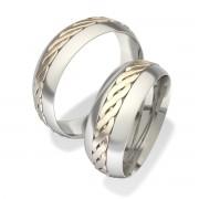 Luxusní Ocelové snubní prsteny 7021