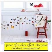 Pack of 283pcs Beautiful Colorful Assorted Butterflies DIY Wall Stickers Art Mural Decals Decor - Kids Baby Children Room Nursery Kindergarten