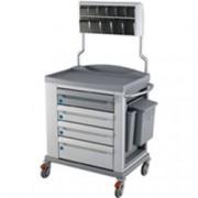 carrello multifunzione medicazione ks standard - 4 cassetti - serratur