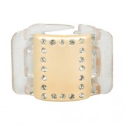 Linziclip Midi Hair Clip Haargummis für Frauen Haarklammer Farbton - Linen Pearl Crystal