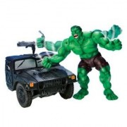 Smash Crush Hulk With Military Truck Smashing Action