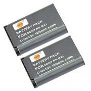 DSTE 2-Pacco Ricambio Batteria per Sony NP-BX1 Cyber-shot HDR-CX240 HDR-CX240E DSC-RX1 DSC-RX10 II DSC-RX1B DSC-RX1R DSC-RX1R/B DSC-RX100 DSC-RX100 II DSC-RX100 III DSC-RX100 IV DSC-RX100/B DSC-RX100M2