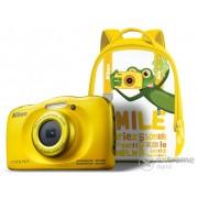 Aparat foto Nikon Coolpix W100, galben + rucsac