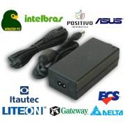 Fonte de alimentação para Notebook Amazon PC, Intelbras, Positivo, Asus, ECS, Itautec, Liteon, Gateway 2000, e Delta
