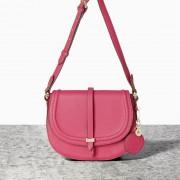 Malá růžová kabelka crossbody NICA v retro stylu