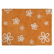 Lorena Canals C-FL-7 Flores Orange Washable Rug, Arancione