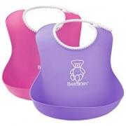 Babybjörn 2-pack Mjuk Haklapp Rosa/Lila
