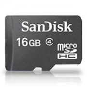 Карта памет SanDisk MicroSDHC 16GB + адаптер, Class 4 - SD-SDQB-016G-B35