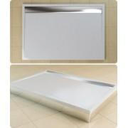 Cadita de dus rectangulara SanSwiss model WIA, din marmura sintetica de 90x160x3,5 cm model ILA
