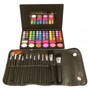 Trusa Farduri Detasabila 78 culori + Set 12 pensule Make-up