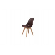 Chaise new tower wood chocolat
