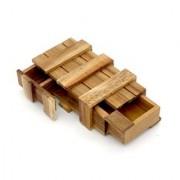 BSIRI The Magic Box Puzzle Brain Teaser Box Monkey Pod Wooden Secret Trick Intelligence Compartment Magic Money Gift Box