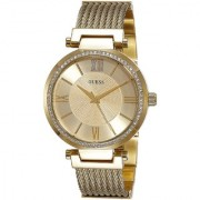 GUESS Gold Stainless Steel Round Dial Analog Watch For Women (W0638L2)