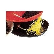 Muskétás kalap filcből (fekete színben)