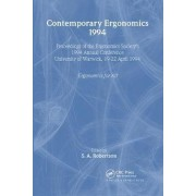 Contemporary Ergonomics 1994 by S. A. Robertson