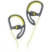 TDK Life on Record SB30 In-Ear Sport Headphones flexible stay-in-place ear hook Grey/Chartreuse