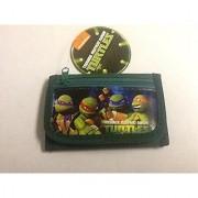 Brand New 2014 Teenage Mutant Ninja Turtles Tri Fold Wallet (Green)