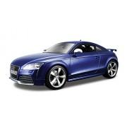 Bburago 18-12080 - Audi TT RS Modellino, Scala 1:18, Colori Assortiti: Argento/Blu