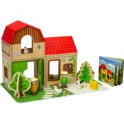 Hape Farm Doll Family House Playset