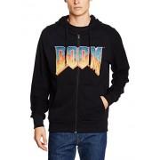 Doom Hoodie -L- Vintage Logo, Schwarz [Importación Alemana]