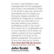 Your Hate Mail Will Be Graded by John Scalzi