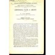 Conference Faite A Amiens / Rapport / Science Et Industrie - La Lecon De Guerre - L'exemple A Letranger / 5 Avril 1922.