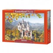 Пъзел Castorland VIEW OF THE NEUSCHWANSTEIN CASTLE, GERMANY, 3000 части C-300013