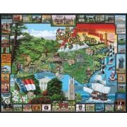 White Mountain Puzzles Historic North Carolina - 1000 Piece Jigsaw Puzzle by White Mountain Puzzles