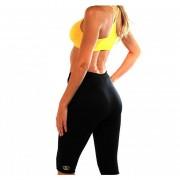 Conjunto deportivo para sudar (calza + peto) Fenix-Negro con amarillo