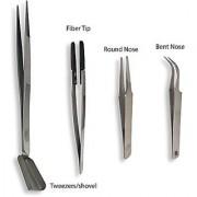 Totally Tools 4 Piece Beading Tweezers Set Bent Nose Fiber Tip Round Nose Tweezer/shovel