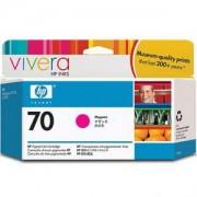 HP 70 130 ml Magenta Ink Cartridge with Vivera Ink, HP Designjet Z2100, Z3100 - C9453A