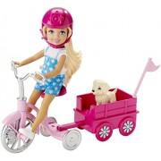 Mattel Barbie & Her Sisters in The Great Puppy Adventure Doll & Trike - muñecas (Chica, Multi, Femenino)
