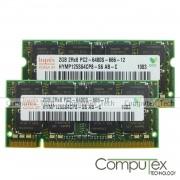 Memorie laptop-RAM 4gb DDR2(kit 2*2gb) Hynix PC2-6400 sh