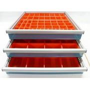 Schaller Boxes Schaller 94 Pc Red Plastic Box Assortment . 2 Deep . Ten (10) Sizes