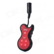 SW-968 guitare en forme de lecteur de musique MP3 résistant à l'eau w / Clip - noir + rouge (4 Go)