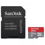SanDisk minneskort microsdhc ultra 32gb 80mb/s uhs-i adapter