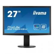 "Monitor iiyama B2780HSU-B1, 27"", LCD, LED, 1920x1080, 5M:1, 2ms, 300cd, D-SUB, DVI, HDMI, USB, pivot"
