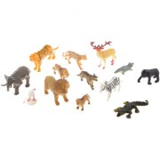 Magideal 200 Pcs Miniature Simulation Plastic Forest Animal Figures Toy Sets For Kids